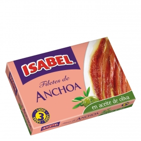 Filetes de anchoa en aceite de oliva Isabel 150 g.
