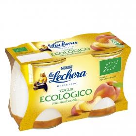 Yogur ecológico con melocotón
