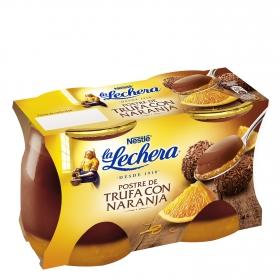 Postre de trufa con naranja Nestlé La Lechera pack de 2 unidades de 125 g.