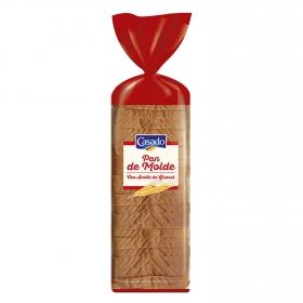 Pan de molde blanco con aceite de girasol Casado 820 g.