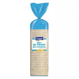 Pan de molde blanco sin corteza