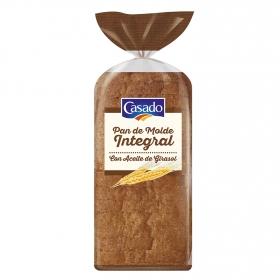 Pan de molde integral con aceite de girasol Casado 460 g.