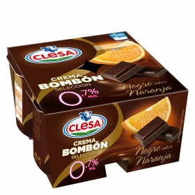 Crema bombón Chocolate negro y naranja 0%