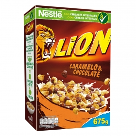 Cereales con chocolate y caramelo Lion