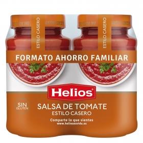Salsa de tomate Helios sin gluten pack de 2 tarros de 570 g.