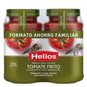 Salsa de tomate con aceite de oliva virgen extra Helios sin gluten pack de 2 tarros de 560 g.