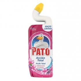 Limpiador de inodoro acción total frescor floral Pato 750 ml.