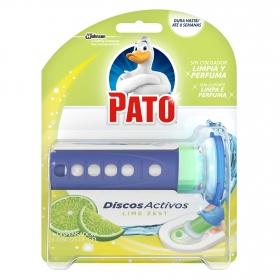 Discos activos inodoros aroma lima aparato + recambio Pato 1 ud.