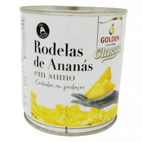 Piña en trozos en su jugo natural Golden 370 g.