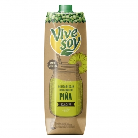 Zumo de piña y soja ViveSoy brik 1 l.
