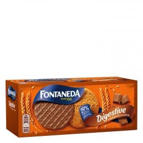 Galleta bañada con chocolate con leche