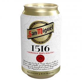 Cerveza San Miguel premium 1516 lata 33 cl.