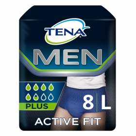 Pants Active Fit Plus talla L (50-56) para hombres Tena 8 ud.