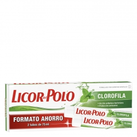 Gel dental Frescor Natural Licor del Polo pack 2x75 ml.