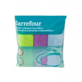 3 Bayetas Multiusos de Microfibra  Carrefour   - Colores surtidos
