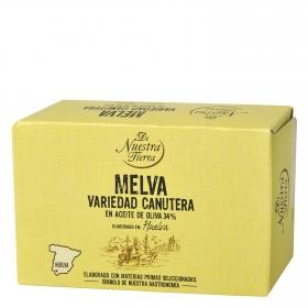Filetes de melva canutera en aceite de oliva De Nuestra Tierra 78 g.