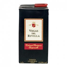Vino de la Tierra de Extremadura tinto Vegas del Rivilla 1 l.