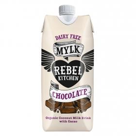 Bebida ecológica de coco con chocolate