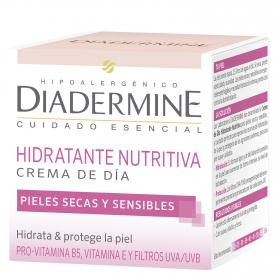Crema de día hidratante para cutis seco y sensible