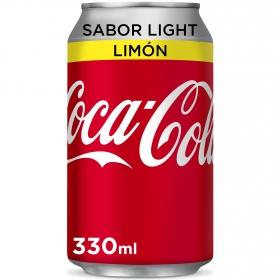Refresco de cola light al limón