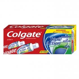 Dentífrico Triple Acción Tubo Duplo Colgate pack de 2 unidades de 75 ml.