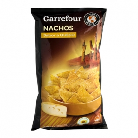Nachos sabor queso Carrefour 200 g.