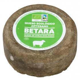 Queso semicurado de cabra ecológico Betara pieza 350 g aprox