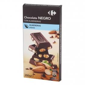 Chocolate negro con  almendras enteras