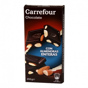Chocolate negro con  almendras enteras