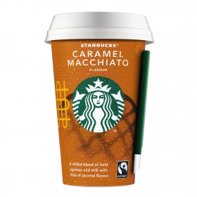 Café latte de caramelo Starbucks 220 ml.