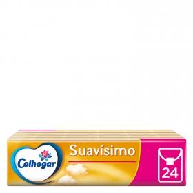 Pañuelos blancos suavísimo compact 3 capas Colhogar 24 ud.