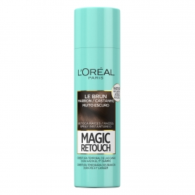 Tinte retoca raíces spray instantáneo marrón oscuro L'Oréal Magic Retouch 150 ml.