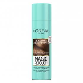 Tinte retoca raíces spray instantáneo castaño L'Oréal Magic Retouch 150 ml.
