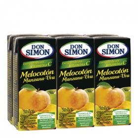 Zumo de melocotón y uva con vitamina C