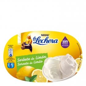Sorbete de limón sin lactosa