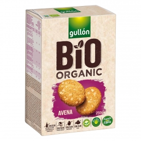 Galletas de avena ecológicas Gullón sin lactosa 250 g.