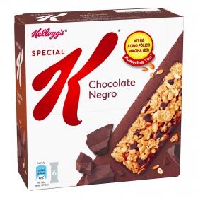 Chocolate Negro: Barritas de cereales de arroz y trigo con pedacitos de chocolate y una suave capa de chocolate