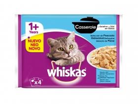 Comida para gatos Casserole con pescado (salmón, atún y abadejo)