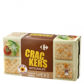 Crackers integrales Carrefour 250 g.