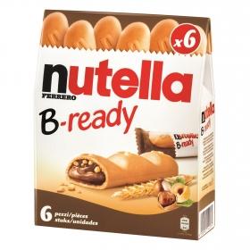 Barritas B-ready Nutella 6 unidades de 30 g.