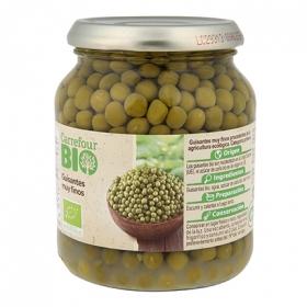 Guisantes extra finos ecológico Carrefour Bio 230 g.