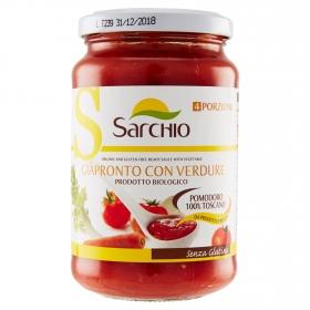 Salsa de tomate con verdura ecológico Sarchio sin gluten tarro 340 g.