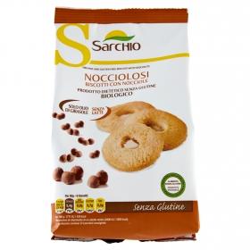 Galletas con avellanas ecológicas Sarchio sin gluten 200 g.