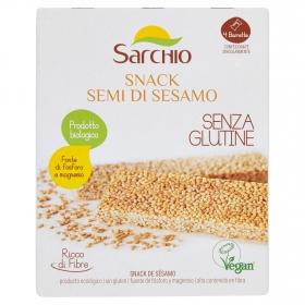 Barritas de sésamo ecológicas Sarchio sin gluten 4 unidades de 20 g.