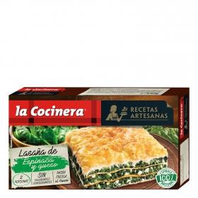 Lasaña de espinacas y queso fresco La Cocinera 530 g.