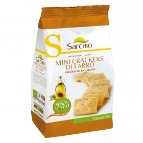 Crackers de espelta ecológicos mini Sarchio 250 g.