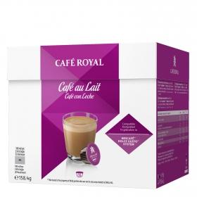 Café con leche en cápsulas Royal compatible Dolce Gusto 16 unidades de 9,9 g.