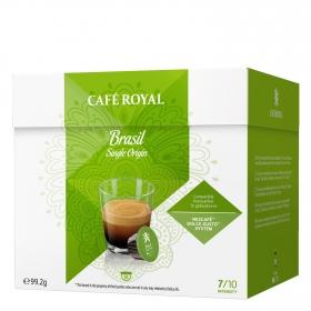 Café Brasil en cápsulas Royal compatible con Dolce Gusto 16 unidades de 6,2 g.