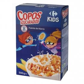 Cereales de copos de maíz azucarado