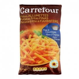 Patatas congeladas extra finas Carrefour 1 kg.